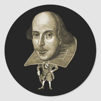 Shakespeare Caricature Round Stickers