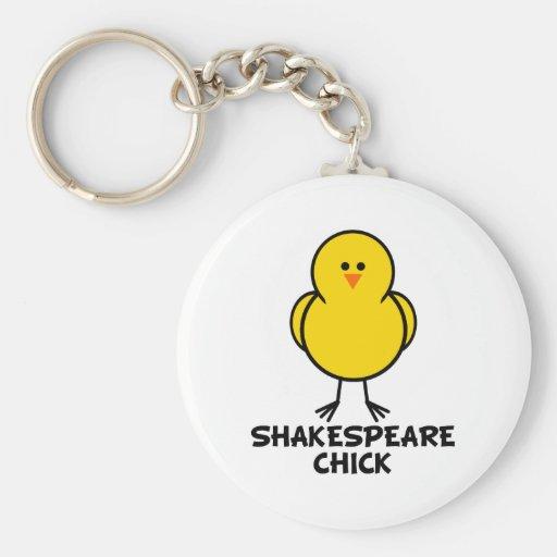 Shakespeare Chick Key Chain