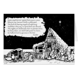 Shakespeare Christmas Greeting Card