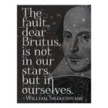 Shakespeare - Dear Brutus quote poster