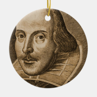 Shakespeare Droeshout Engraving Christmas Ornament