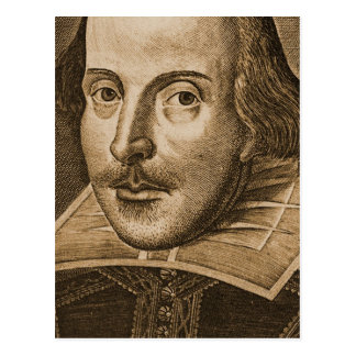 Shakespeare Droeshout Engravings Post Cards