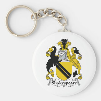 Shakespeare Family Crest Basic Round Button Key Ring
