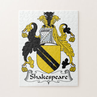Shakespeare Family Crest Jigsaw Puzzle