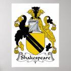 Shakespeare Family Crest Poster