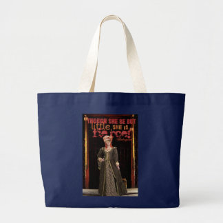 Shakespeare Fierce Quote Large Tote Bag