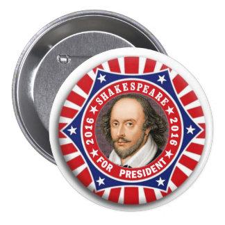 Shakespeare for President 2016 7.5 Cm Round Badge