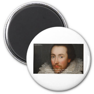 """Shakespeare """"Friends"""" Wisdom Quote Gifts & Tees Fridge Magnet"""