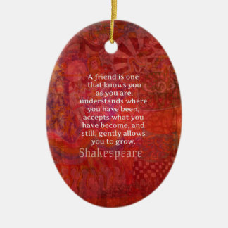 Shakespeare FRIENDSHIP Quote Christmas Ornament