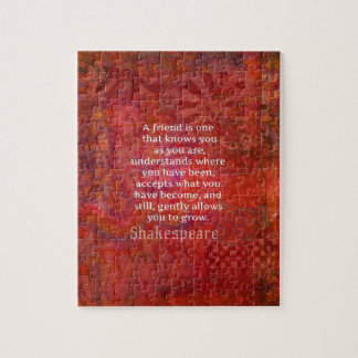 Shakespeare FRIENDSHIP Quote Jigsaw Puzzle
