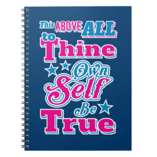Shakespeare Hamlet To Thine Own Self Be True Quote Notebook