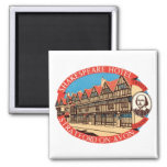 Shakespeare Hotel, Stratford on Avon Luggage Label Square Magnet