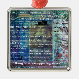 Shakespeare humorous Insults Christmas Ornament