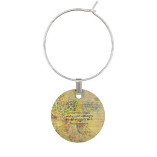 Shakespeare humorous quote from AS YOU LIKE IT Wine Charm