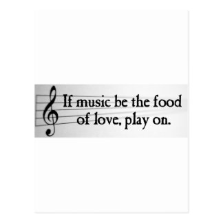 Shakespeare: If Music be the Food of Love Postcard