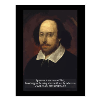 Shakespeare - Ignorance and Knowledge postcard
