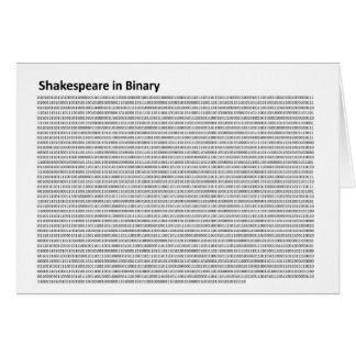Shakespeare in Binary Notecard Note Card