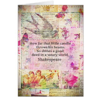 Shakespeare  inspirational quote about good deeds card