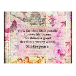 Shakespeare  inspirational quote about good deeds postcard