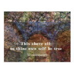 Shakespeare inspirational  quote postcard