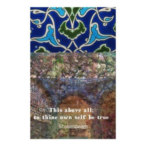 Shakespeare inspirational  quote custom stationery