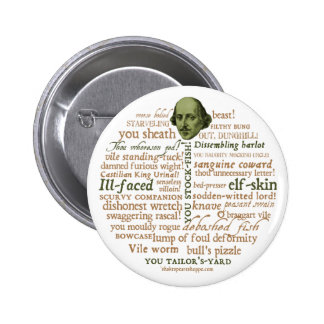 Shakespeare Insults Collection 6 Cm Round Badge