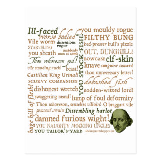 Shakespeare Insults Collection Postcard