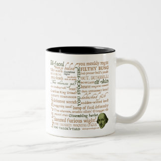 Shakespeare Insults Collection Two-Tone Coffee Mug