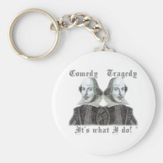Shakespeare - It's what I do! Basic Round Button Key Ring