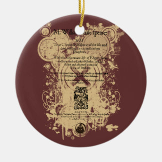 Shakespeare King Lear Quarto Front Piece Christmas Ornament