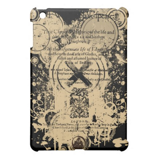 Shakespeare King Lear Quarto Front Piece iPad Mini Case