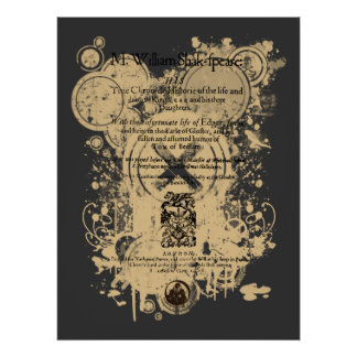 Shakespeare King Lear Quarto Front Piece Poster