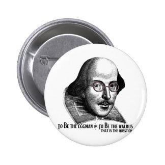 Shakespeare Lennon II Pins