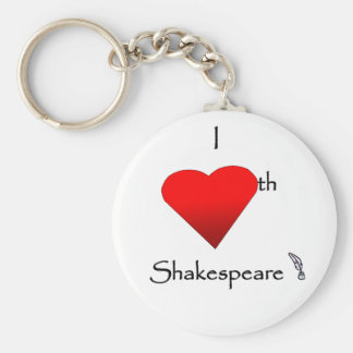 Shakespeare Love Basic Round Button Key Ring