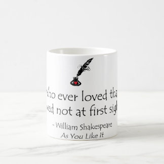 Shakespeare Love First Sight Coffee Mug