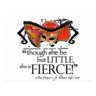 Shakespeare Midsummer Night s Dream Fierce Quote Post Cards