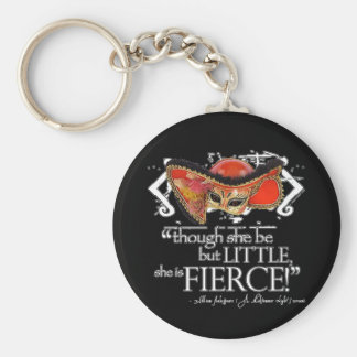 Shakespeare Midsummer Night's Dream Fierce Quote Basic Round Button Key Ring