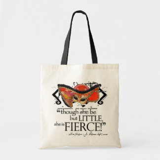 Shakespeare Midsummer Night's Dream Fierce Quote Budget Tote Bag