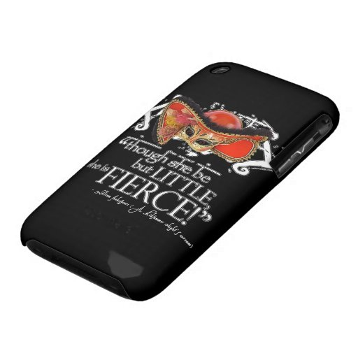 Shakespeare Midsummer Night's Dream Fierce Quote iPhone 3 Covers
