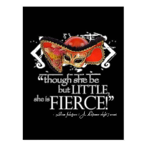 Shakespeare Midsummer Night's Dream Fierce Quote Post Cards