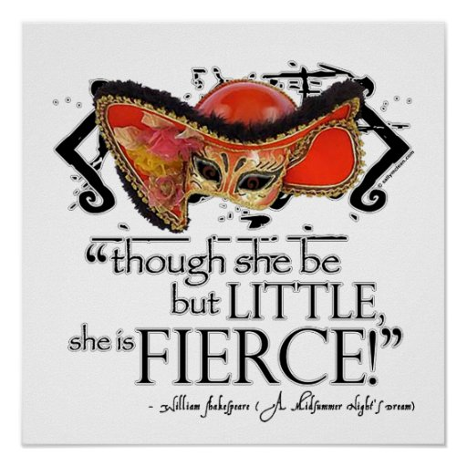 Shakespeare Midsummer Night's Dream Fierce Quote Posters