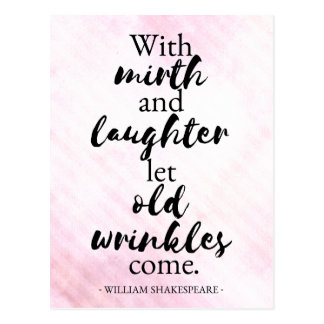 Shakespeare - Mirth and laughter postcard