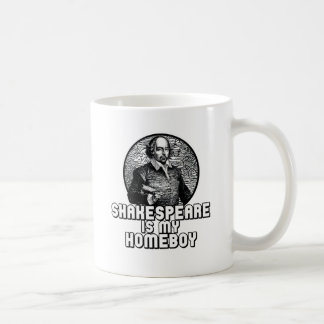 Shakespeare Basic White Mug