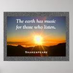 Shakespeare - Music poster