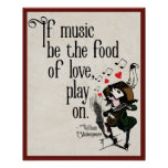 Shakespeare Music quote poster