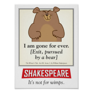 Shakespeare. Not for wimps. a poster