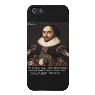 """Shakespeare """"O Powerful Love"""" Quote Gifts Tees Etc Cover For iPhone 5/5S"""