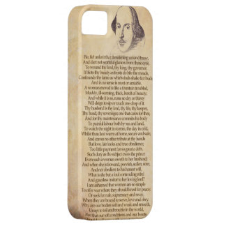 Shakespeare on your iPhone - Taming of the Shrew iPhone 5 Cover