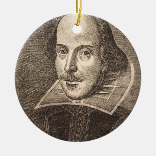 Shakespeare ornament - graduation Christmas decor