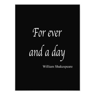 Shakespeare Personalized Quote For Ever and a Day Photo Print